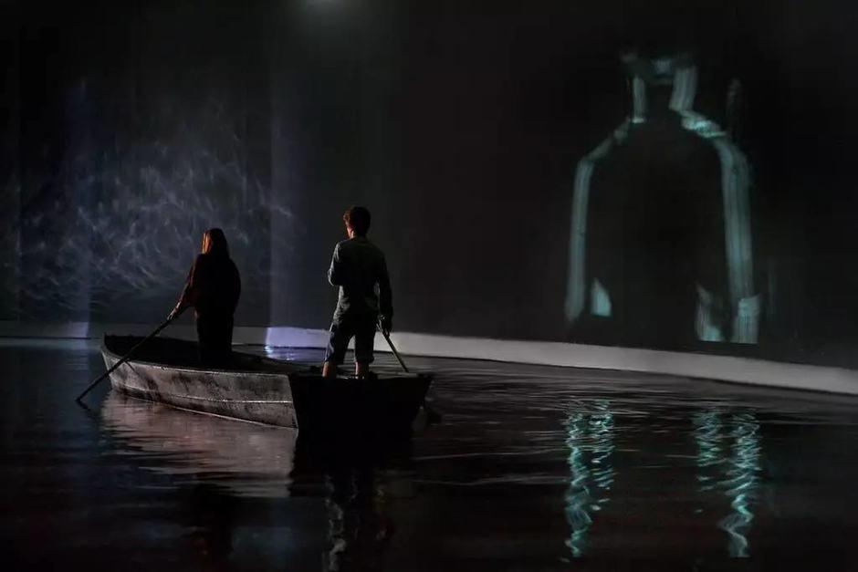 《潮汛》局部呈现图,2015年,巴黎东京宫